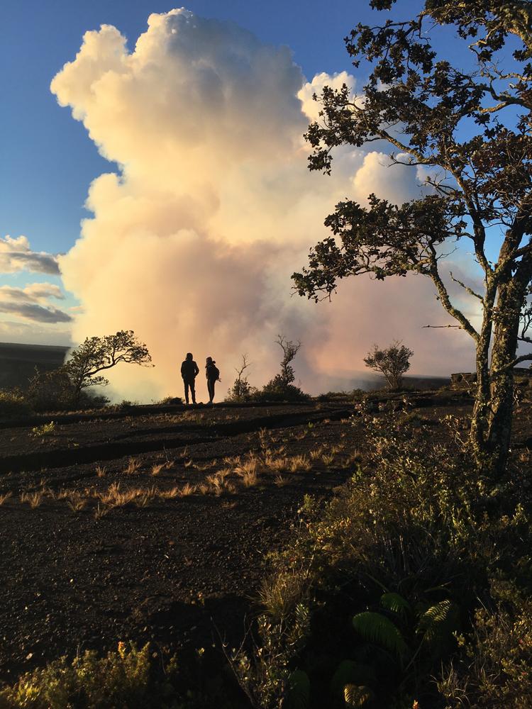 Silhouettes near Kilauea Overlook