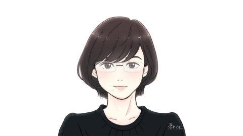 蒼井アオさんサイン入り似顔絵