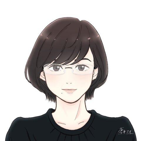 蒼井アオさんサイン入り まゆみ社長似顔絵
